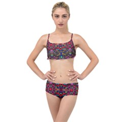 Color Maze Of Minds Layered Top Bikini Set