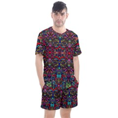 Color Maze Of Minds Men s Mesh Tee And Shorts Set