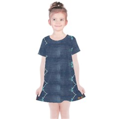 Blue Denim Pattern Native American Beads Pattern By Flipstylez Designs Kids  Simple Cotton Dress