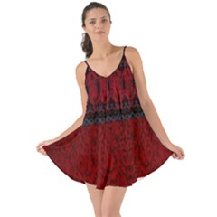 Crush Red Lace Two Patterns  Love The Sun Cover Up