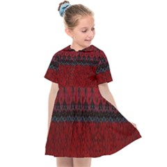 Crush Red Lace Two Patterns  Kids  Sailor Dress