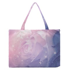 Wonderful Roses In Soft Colors Zipper Medium Tote Bag by FantasyWorld7