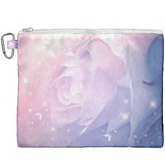 Wonderful Roses In Soft Colors Canvas Cosmetic Bag (xxxl) by FantasyWorld7