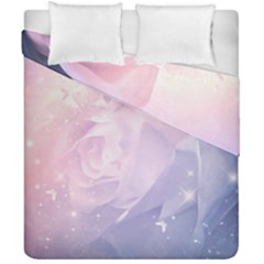 Wonderful Roses In Soft Colors Duvet Cover Double Side (california King Size) by FantasyWorld7
