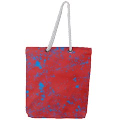 Blue Blood Full Print Rope Handle Tote (large)