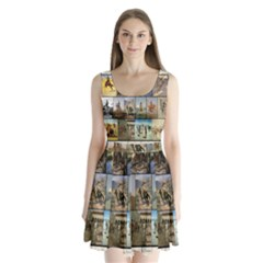 Frederic Remington Split Back Mini Dress