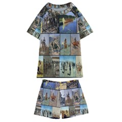 Frederic Remington Kids  Swim Tee And Shorts Set by ArtworkByPatrick1