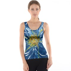 Blue Star Flower Tank Top