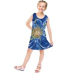 Blue Star Flower Kids  Tunic Dress