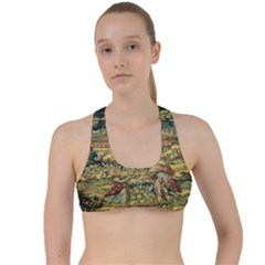 L 5 Criss Cross Racerback Sports Bra