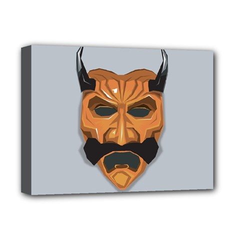 Mask India South Culture Deluxe Canvas 16  X 12  (stretched)  by Samandel
