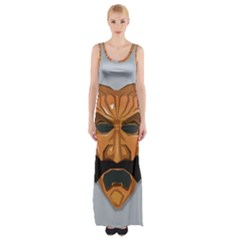 Mask India South Culture Maxi Thigh Split Dress by Samandel