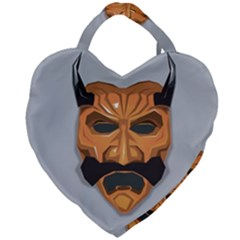 Mask India South Culture Giant Heart Shaped Tote