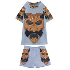 Mask India South Culture Kids  Swim Tee And Shorts Set
