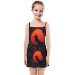 Giraffe Animal Africa Sunset Kids Summer Sun Dress