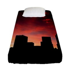 Skyline Panoramic City Architecture Fitted Sheet (single Size)