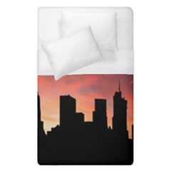 Skyline Panoramic City Architecture Duvet Cover (single Size)