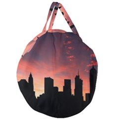 Skyline Panoramic City Architecture Giant Round Zipper Tote