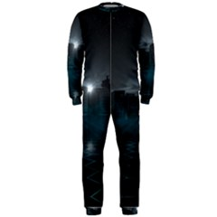 Skyline Night Star Sky Moon Sickle Onepiece Jumpsuit (men)  by Samandel