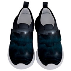 Skyline Night Star Sky Moon Sickle Velcro Strap Shoes by Samandel