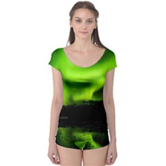 Aurora Borealis Northern Lights Sky Boyleg Leotard