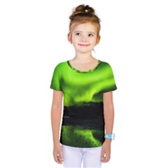 Aurora Borealis Northern Lights Sky Kids  One Piece Tee