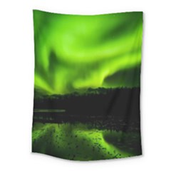 Aurora Borealis Northern Lights Sky Medium Tapestry