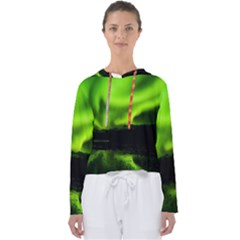 Aurora Borealis Northern Lights Sky Women s Slouchy Sweat