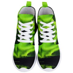 Aurora Borealis Northern Lights Sky Women s Lightweight High Top Sneakers