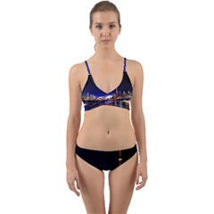 Toronto City Cn Tower Skydome Wrap Around Bikini Set