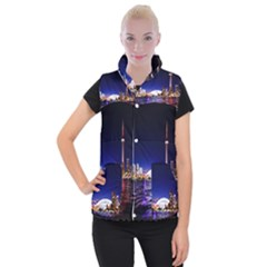 Toronto City Cn Tower Skydome Women s Button Up Vest