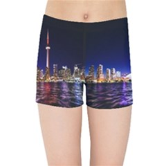 Toronto City Cn Tower Skydome Kids Sports Shorts