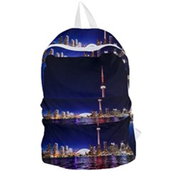 Toronto City Cn Tower Skydome Foldable Lightweight Backpack