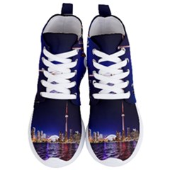 Toronto City Cn Tower Skydome Women s Lightweight High Top Sneakers
