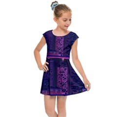 Architecture Home Skyscraper Kids Cap Sleeve Dress by Samandel