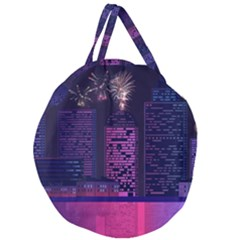 Architecture Home Skyscraper Giant Round Zipper Tote