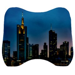 Frankfurt Germany Panorama City Velour Head Support Cushion