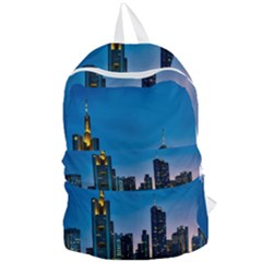 Frankfurt Germany Panorama City Foldable Lightweight Backpack