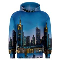 Frankfurt Germany Panorama City Men s Overhead Hoodie