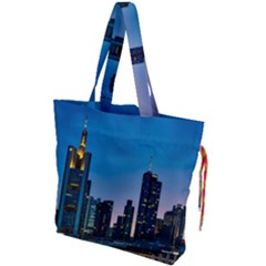 Frankfurt Germany Panorama City Drawstring Tote Bag