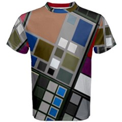 Abstract Composition Men s Cotton Tee