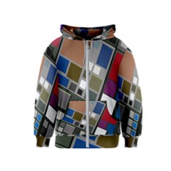Abstract Composition Kids  Zipper Hoodie
