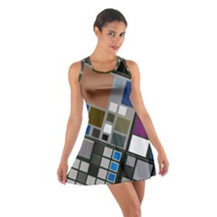 Abstract Composition Cotton Racerback Dress