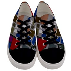 Abstract Composition Men s Low Top Canvas Sneakers