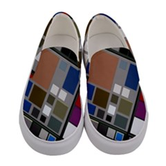 Abstract Composition Women s Canvas Slip Ons