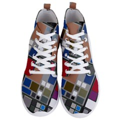 Abstract Composition Men s Lightweight High Top Sneakers