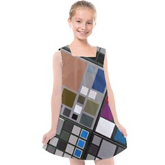 Abstract Composition Kids  Cross Back Dress by Samandel