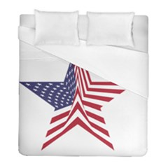 A Star With An American Flag Pattern Duvet Cover (full/ Double Size)