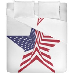 A Star With An American Flag Pattern Duvet Cover Double Side (california King Size) by Samandel