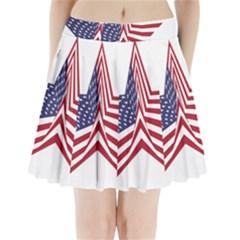 A Star With An American Flag Pattern Pleated Mini Skirt